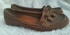 Womens Sebago Felucca Lace Leather Bronze Metallic Boat Shoes Moccasins Size 9.5