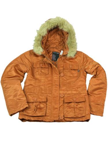 Winterjacke Abby Alpha Industries Damen Jacke Rust Orange  6036
