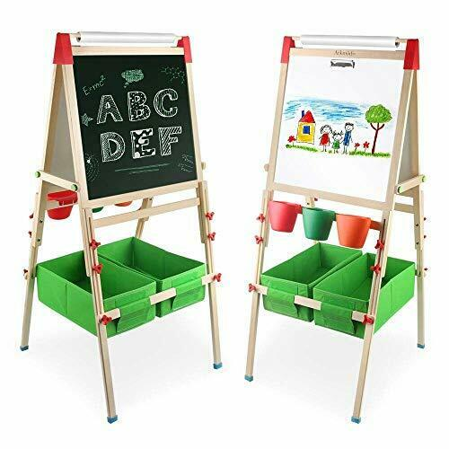 Arkmiido 4en1 multifunction table easel double sided black and white table