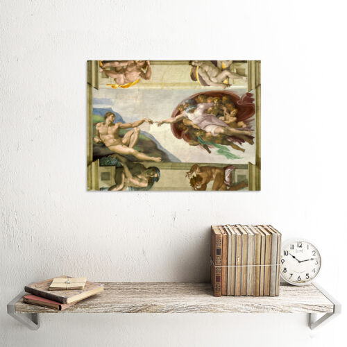 MICHELANGELO CREATION OF ADAM OLD MASTER ART PAINTING PRINT POSTER 1976OM