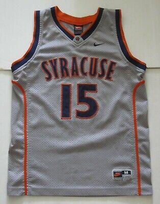 M Youth Nike Carmelo Anthony Syracuse Orange Ncaa Basketball Jersey Gray Euc Ebay