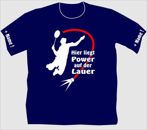 Federball Shirt Badminton T-Shirt Trikot Kreisliga Pokalspiel Vereine Sport 16