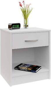 ✅ Comodino in legno bianco con cassetto Elegante arredo per la camera letto