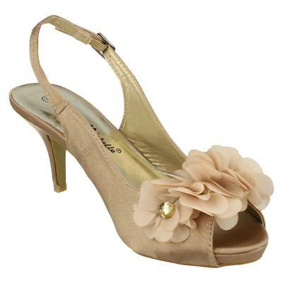Ausverkauf Anne Michelle L2204 Damen dunkel gold Satin Hochzeit Schuhe