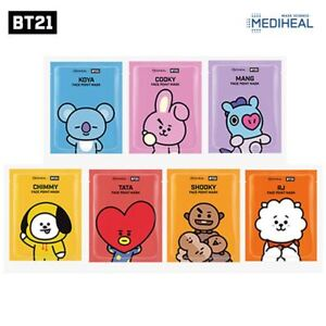 BTS-Official-BT21-Mediheal-Face-Point-Mask-Sheet-4pcs-Bookmark-Postcard