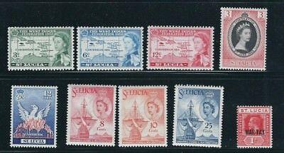 St.lucia 1916-60 Kgv Qeii Five Verschiedene Sets F/vf Mlh Reich Und PräChtig 5