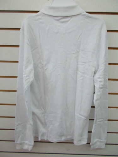 Girls IZOD White Long Sleeved Uniform Polo Shirt Size 10.5//12.5-18.5