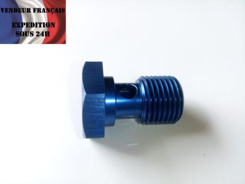 Vis Banjo aluminium bleu anodisé M16 x 1,50 mm longueur 34 mm VENDEUR FRANCAIS