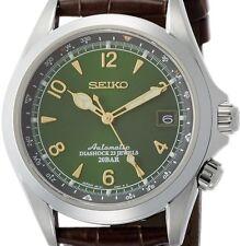 Seiko Alpinist Men's Automatic Watch - Brown/Green (SARB017)
