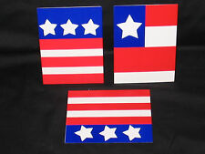 24 RED WHITE BLUE BLANK NOTE CARDS 5x4 PARTY PICNIC INVITATIONS KIDS NOTES
