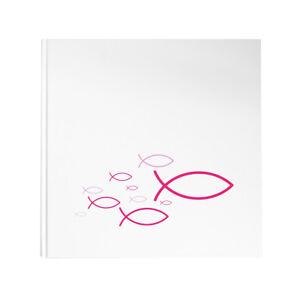 Details Zu Gästebuch Fische Pink Rosa Weiß Ichthys Kommunion Taufe Konfirmation Geburt