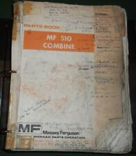 Massey Ferguson Mf 510 Combine Parts Manual Book Catalog