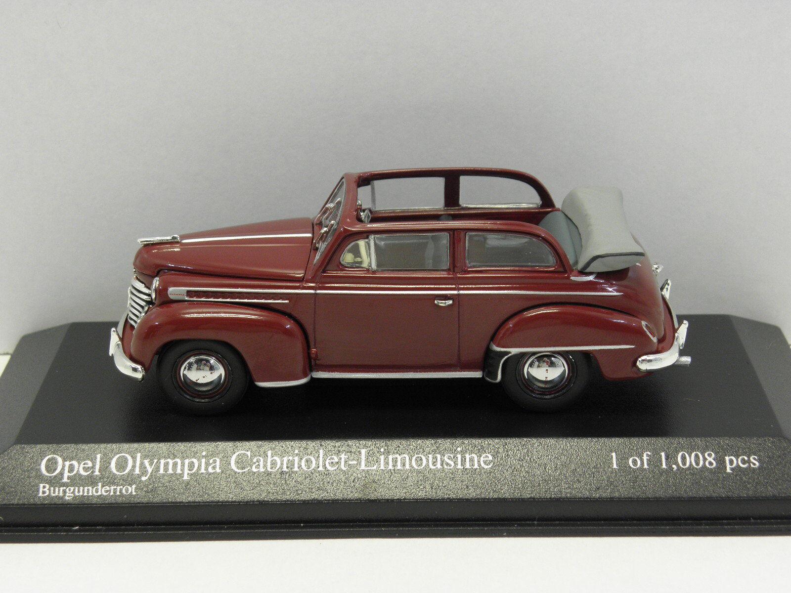 Minichamps 430040432 sammelmodell Opel Olympia Capriolet 1951 échelle 1 43