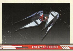 Star Wars Rise Of Skywalker Series 1 Ships Insert Card Sv 5 Kylo Ren S Tie Ebay