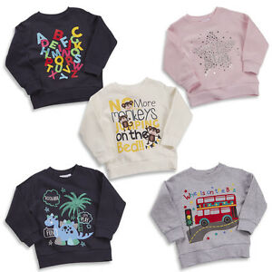 Filles-et-Garcons-cavaliers-pulls-a-manches-longues-Sweatshirts-Fun-Designs-2-3-To-5-6Y
