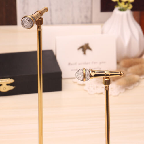 1//6 Golden Copper Microphone Musical Toy Action Figure Dollhouse Miniatures