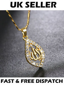 Gold-Allah-Muslim-Arabic-Islamic-Ahmed-Necklace-God-Jewellery-Gift-Pendant-Chain