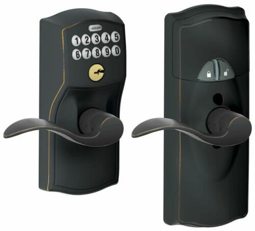 Schlage FE599NXCAM-ACC Bronze Home Keypad Lever With Z-Wave Technology