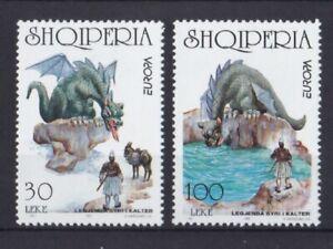 Albanien-postfrisch-MiNr-2619-2620-Europa-Sagen-und-Legenden