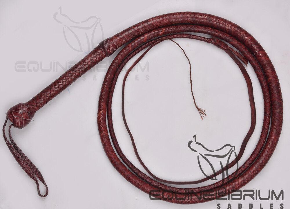 Equinelibrium's de 12 pies 12 Trenzas Cuero de vaca cuero látigo de toros, Indiana Jones Estilo