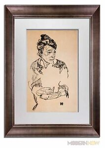 "Egon SCHIELE Lithograph SIGNED LIMITED Ed ""Artist Mother"" 1918 +++Custom FRAMING"