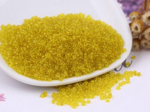 Caja de almacenamiento 5000 Amarillo Transparente Cristal Semilla Cuentas 2mm 10//0