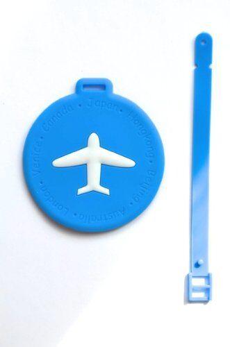 Nov@go® label luggage suitcase label/blue/plane (round)