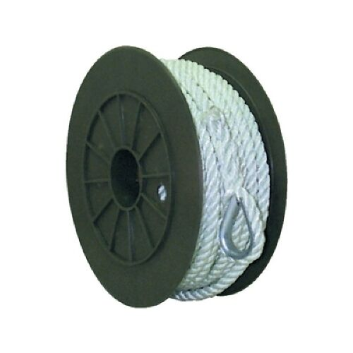 1//2 Inch x 250 Ft Three Strand Twisted Nylon Anchor Line for Boats