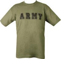 Military FORCES ARMY T Shirt Olive Green PARA SAS TA