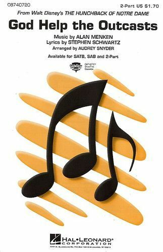 God Help The Outcasts Disney Sing Soprano Alto Vocal Piano SHEET Music Book