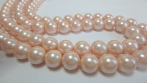 pêchers Muschelkern perles boule perle rond diff 8-10 MM tailles 5-10 pcs.