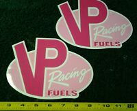 Lot Of 2 Vp Racing Fuels Pink Breast Cancer Awareness Decals Stickers Nascar