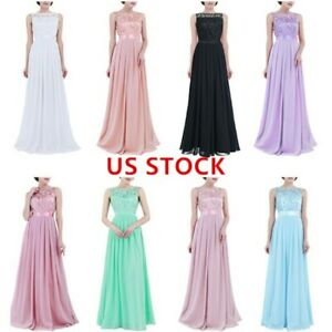 US-Women-039-s-Ladies-Sleeveless-Chiffon-Bridesmaid-Dress-Formal-Cocktail-Party-Gown