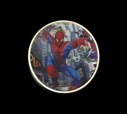 1 X MARVEL SPIDERMAN SUPER HERO NOVELTY COIN 2019 3D BEST NEW GIFT UKAVENGERS