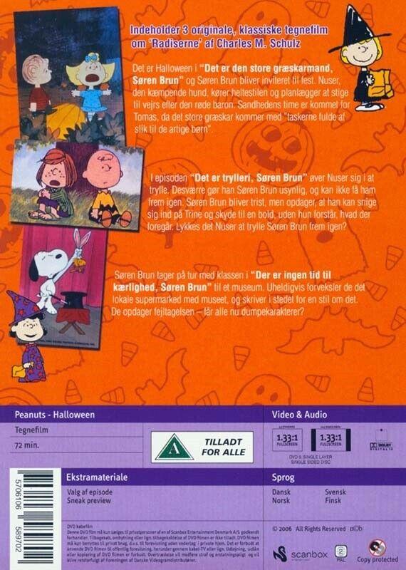 Radiserne Halloween, instruktør Bill Melendez, DVD