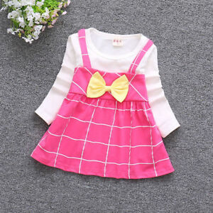 Infant 1st Birthday Dress For Baby Girl Clothes Long Sleeve Newborn Dresses