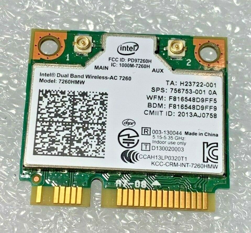 New Intel Dual Wireless-AC 7260 7260HMW Bluetooth PCIe Half OEM HP 784650-005