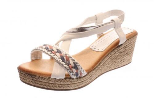 Damen Sandale//Sandalette weiß komb. Weiß 303//BA-25