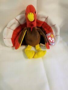 TY Beanie Baby -- verschlingt die Türkei -- seltene Doppel watscheln!!! -- Fehler auf Tags!