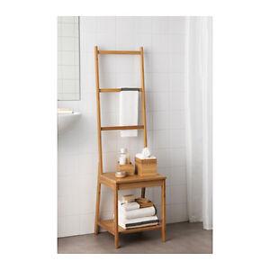 ... IKEA RAGRUND Stuhl Mit Handtuchhalter Aus Bambus Badezimmer