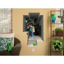 Minecraft - Steve Mining - 3D Vinyl Removable Wall Cling Decals Stickers