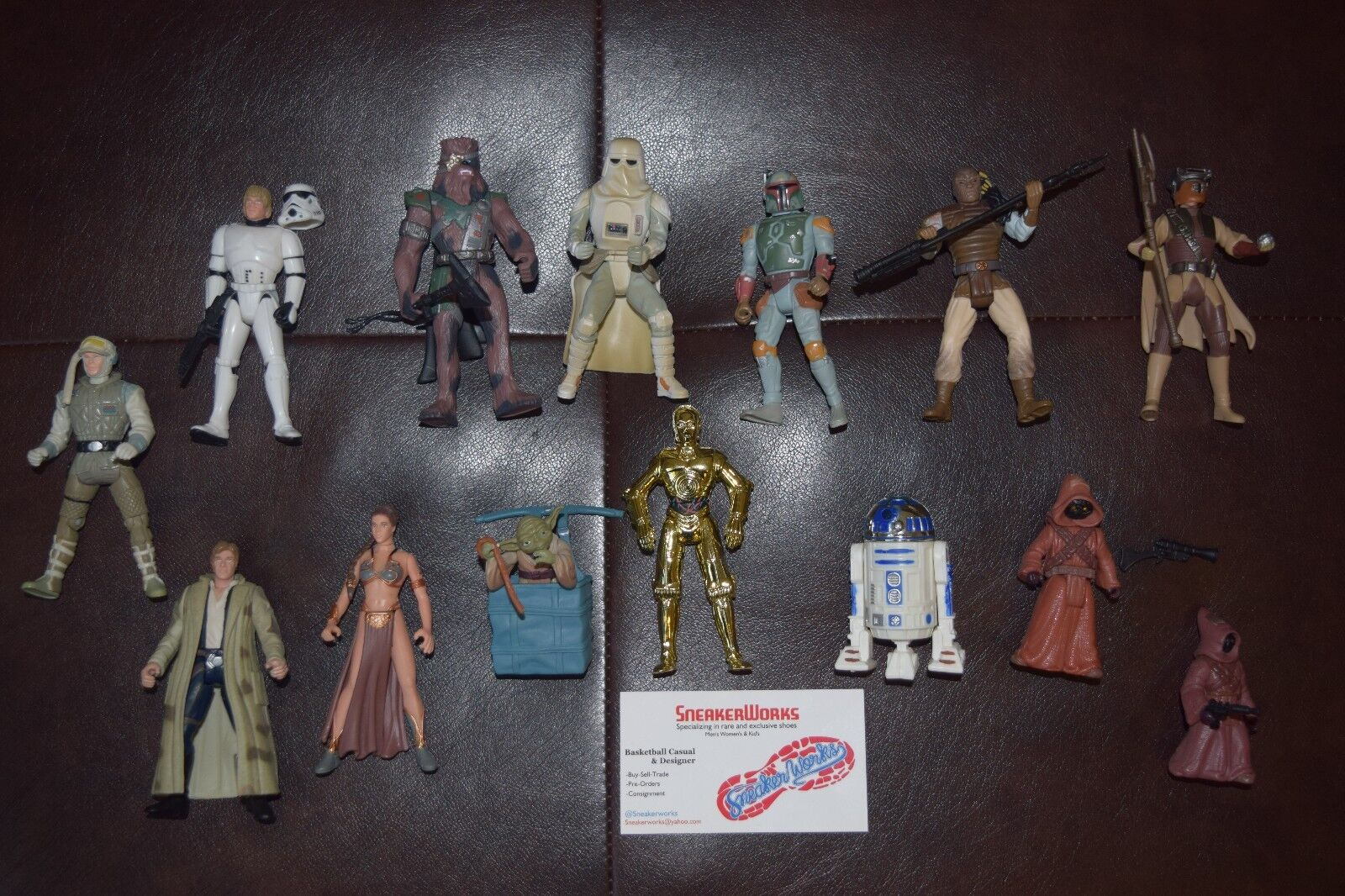 Star Wars Kenner 14 Action Figure Lot Yoda Luke Han Solo R2-D2 C-3PO and More