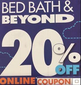 1 - Bed Bath Beyond 20% off 1 Item *** Online Coupon *** Exp 11/4/2019