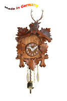 Miniature Pendulum clock, quartz o. Spring movement,Rocker,Made in Germany,