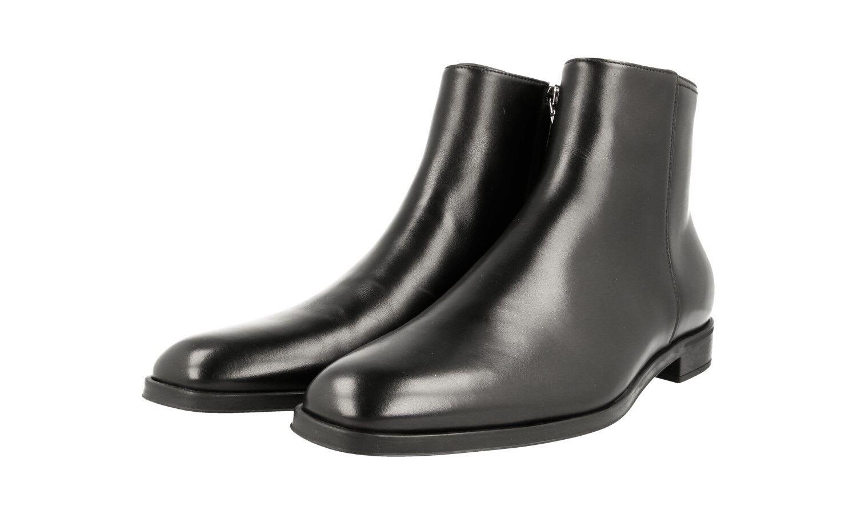 Lujo prada botín zapatos 2tc044 negro nuevo New 10 44 44,5