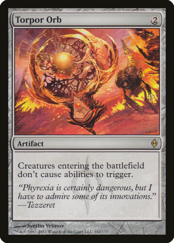 Torpor Orb New Phyrexia NM-M Artifact Rare MAGIC THE GATHERING MTG CARD ABUGames