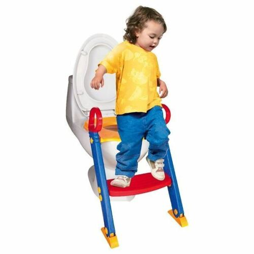 New Childrens Toilet Trainer Potty Loo Seat Trainer System Step Up Ladder Kids