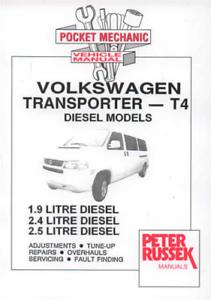 MANUALE Officina VOLKSWAGEN VW TRANSPORTER T4 DIESEL 1996-2005 Servizio di Riparazione