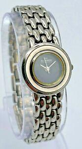 Women-039-s-SKAGEN-Denmark-Ultra-Slim-Silver-Tone-Steel-Bracelet-Watch-Black-54SSJB