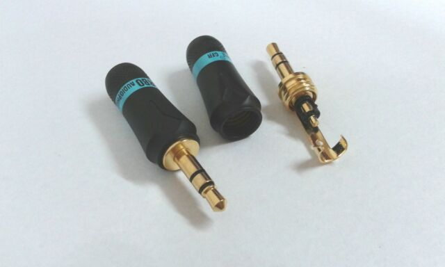 2pcs 3.5mm Male Plug  Stereo Audio Jack soldering connector